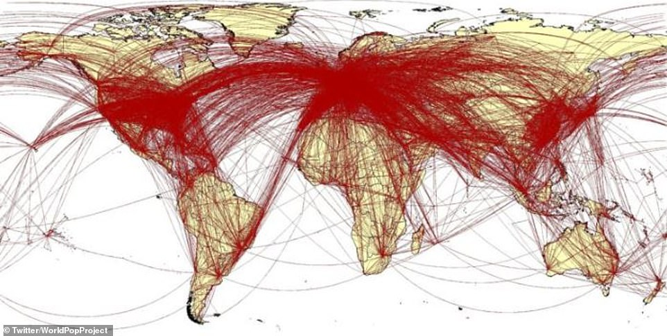 خطوط الاتصالات التى يتم تتبعها