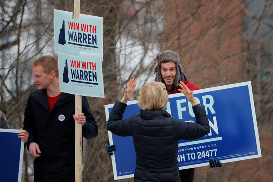 حملات المرشحون الديمقراطيون للرئاسة الأمريكية خرج اللجان الانتخابية