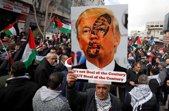 مظاهرات منددة بخطة السلام