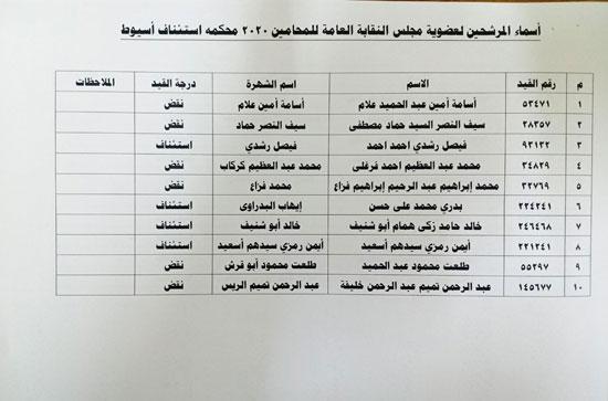 نقابة المحامين تعلن الكشوف النهائية للمرشحين فى انتخاباتها (4)