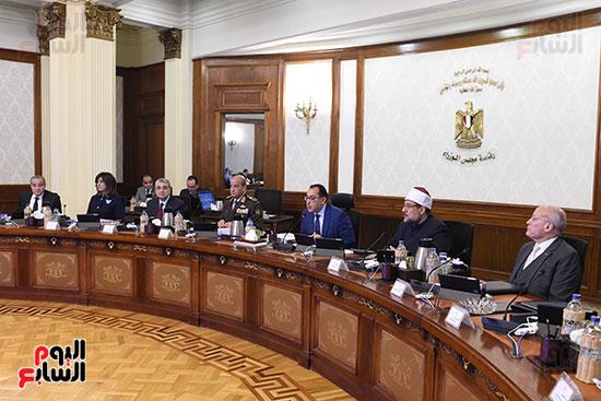 الدكتور مصطفى مدبولى رئيس الوزراء خلال الاجتماع
