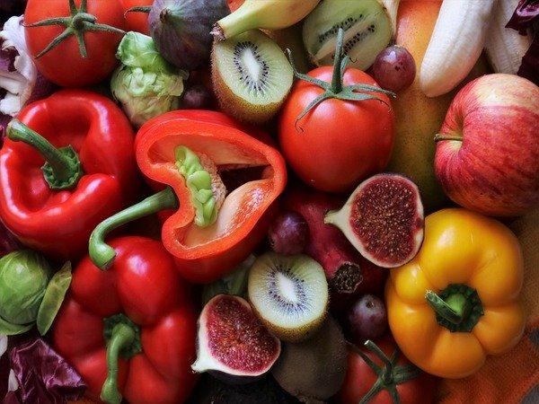 التفاح والخضروات