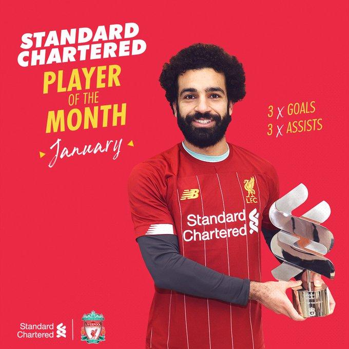 محمد صلاح لاعب شهر يناير فى ليفربول