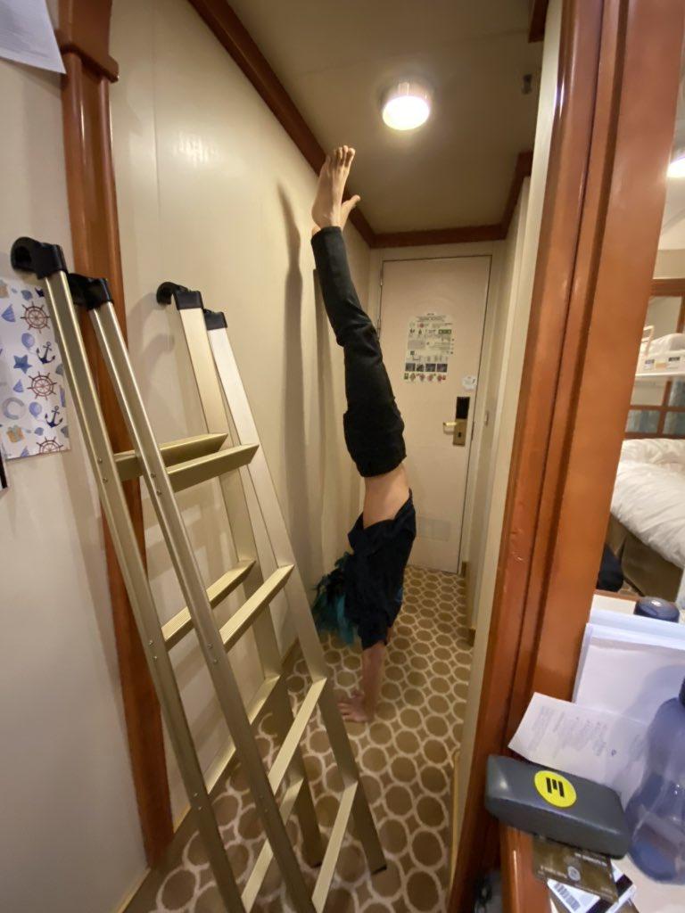 ممارسة الرياضة داخل السفينة
