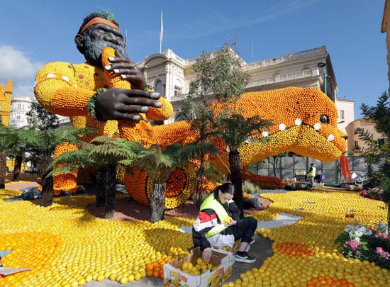 جانب من مهرجان الليمون والبرتقال