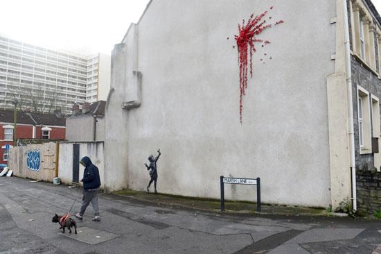 بانكسى هو أحد فنانى الشوارع