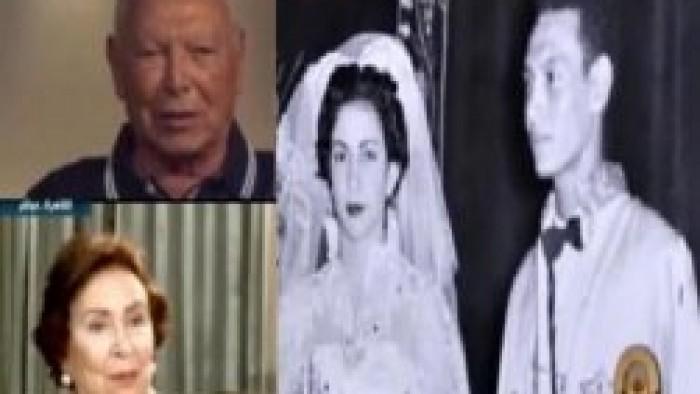 أنسى وزوجته يسرية فى حفل زفافهما