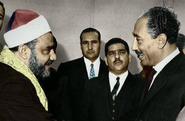 الشيخ سيد النقشبندى مع الرئيس الراحل محمد أنور السادات