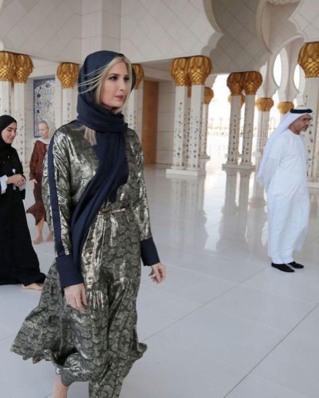 ايفانكا ترامب بالحجاب