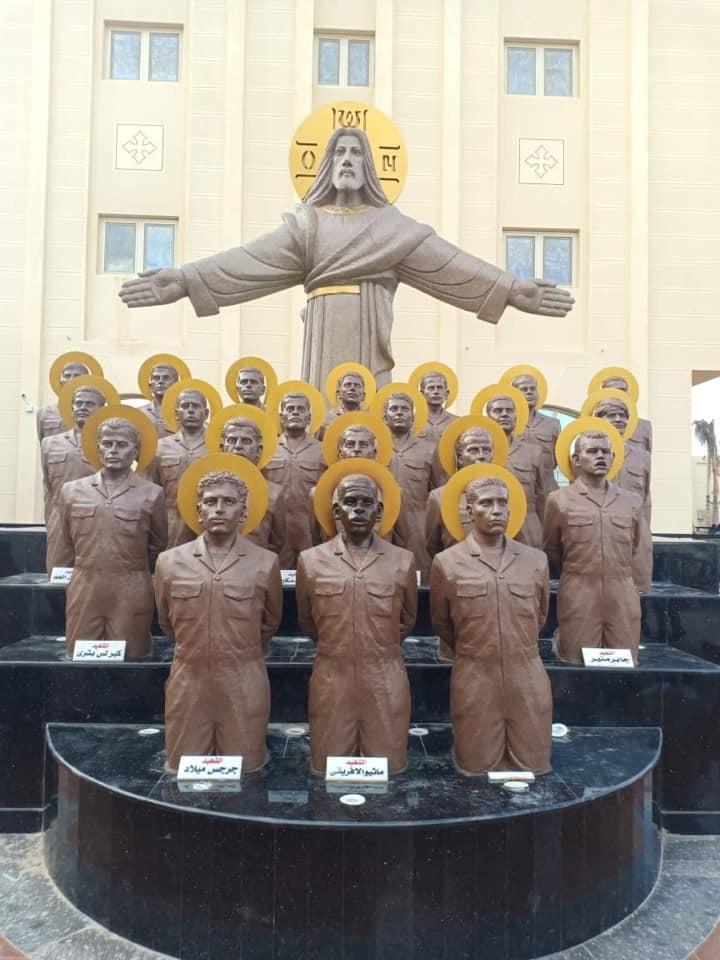 نصبًا تذكاريًا لشهداء ليبيا في كنيسة العور (4)
