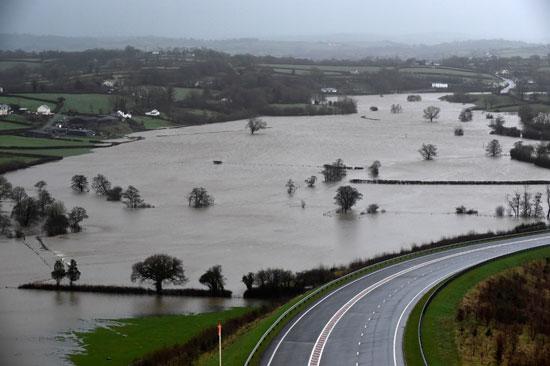المياه تفسد اراضى الكثير من الحقول