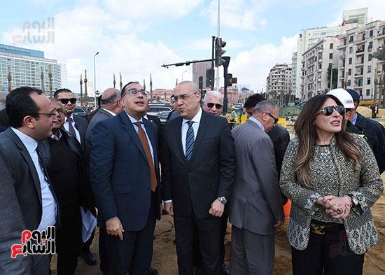خلال تفقد اعمال تطوير ميدان التحرير
