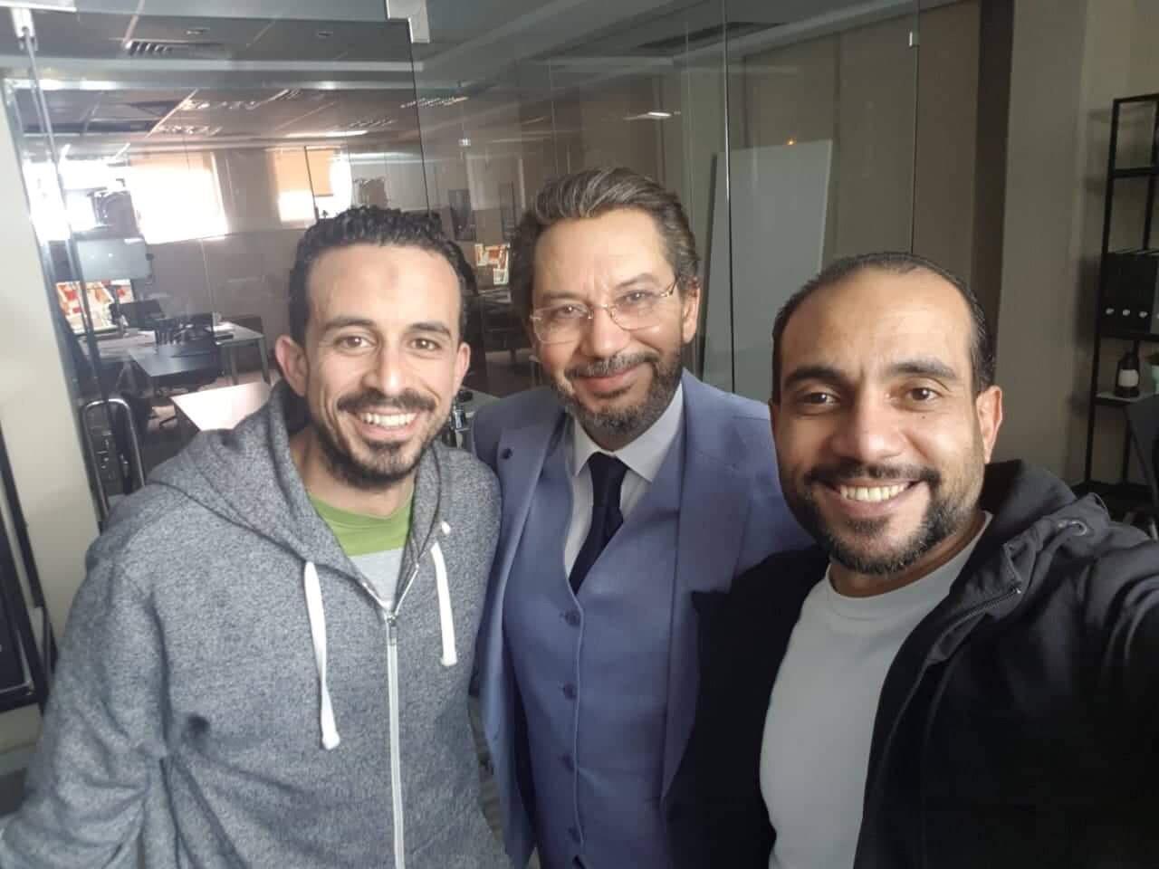 كمال أبورية ومحمد محرز ومحمد أسامة