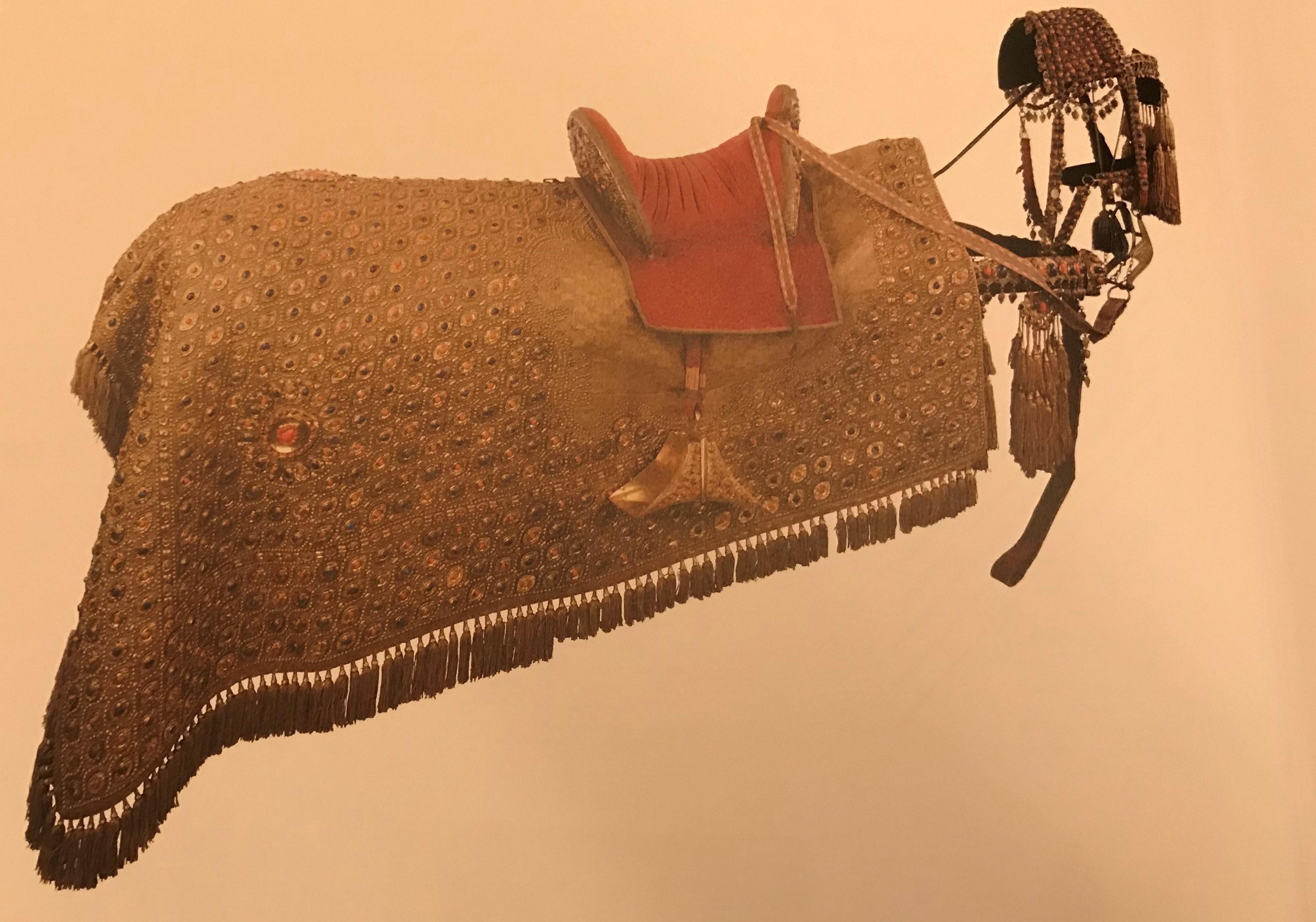 طقم حصان وغطاء سرج مملوكى مزركش