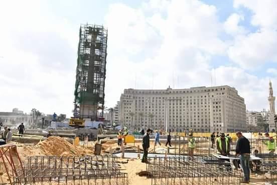 اعمال التطوير بميدان التحرير (1)