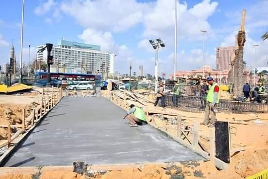 اعمال التطوير بميدان التحرير (3)