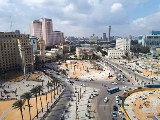 اعمال التطوير بميدان التحرير (2)