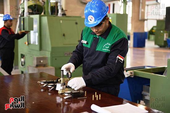 معدات وذخائر فى مشروعات جديدة افتتحها السيسي (3)