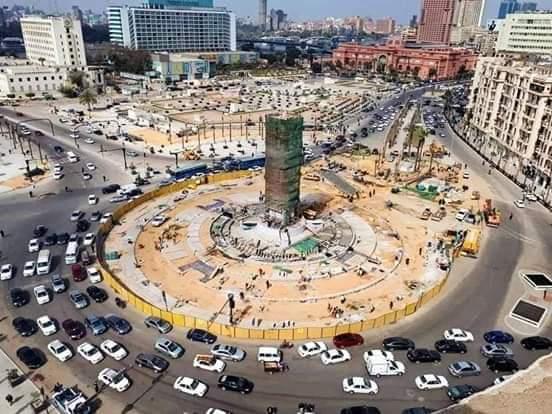 اعمال التطوير بميدان التحرير (5)