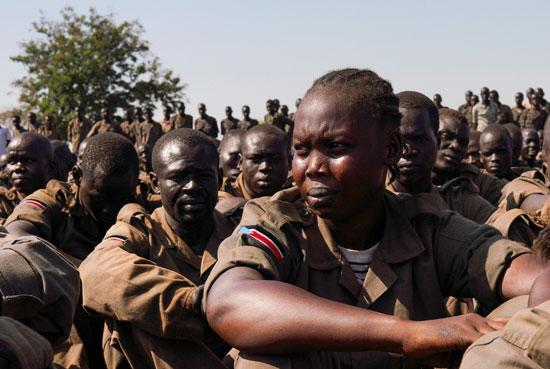 تجمع لجنود جنوب السودان