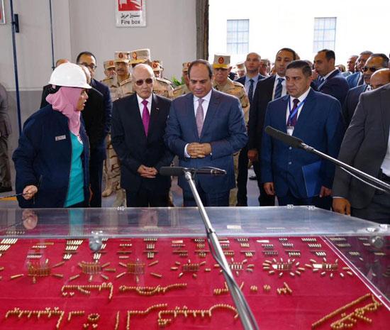السيسى يفتتح مصنع 300 الحربى (6)