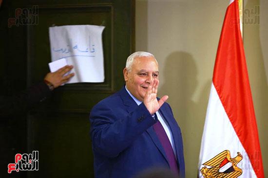 المستشار لاشين إبراهيم رئيس الهيئة الوطنية للانتخابات (4)
