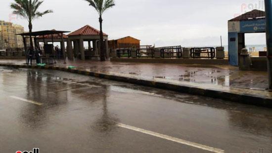 أمطار خفيفة وانخفاض درجات الحرارة فى الإسكندرية (5)