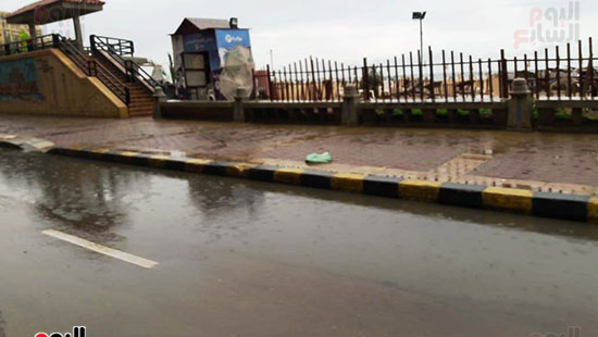 أمطار خفيفة وانخفاض درجات الحرارة فى الإسكندرية (2)