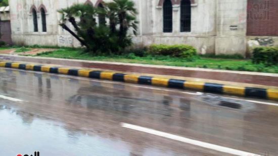 أمطار خفيفة وانخفاض درجات الحرارة فى الإسكندرية (11)