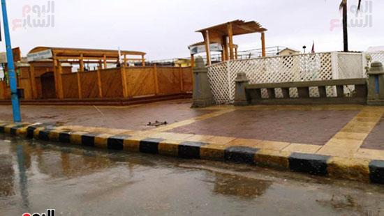 أمطار خفيفة وانخفاض درجات الحرارة فى الإسكندرية (8)