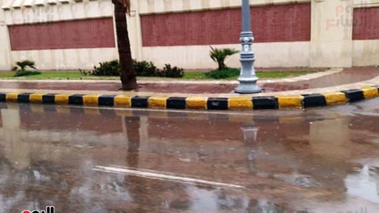 أمطار خفيفة وانخفاض درجات الحرارة فى الإسكندرية (1)