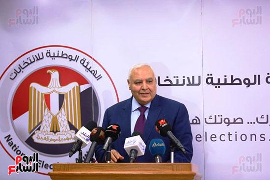 المستشار لاشين إبراهيم رئيس الهيئة الوطنية للانتخابات (7)