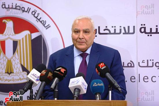 المستشار لاشين إبراهيم رئيس الهيئة الوطنية للانتخابات (6)