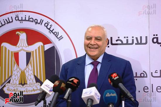 المستشار لاشين إبراهيم رئيس الهيئة الوطنية للانتخابات (1)