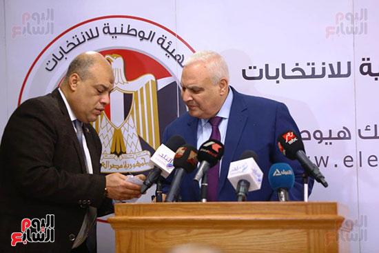 المستشار لاشين إبراهيم رئيس الهيئة الوطنية للانتخابات (10)