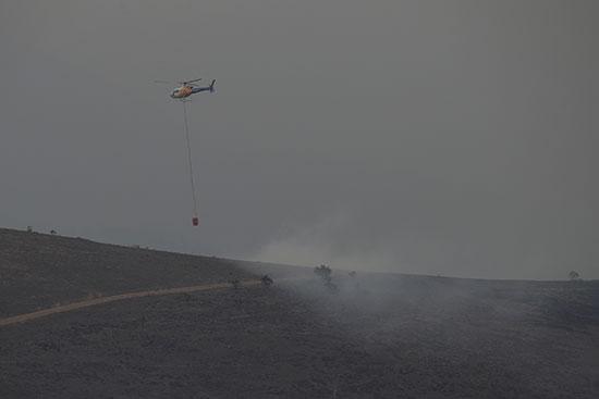 جانب من عملية الإطفاء بالطائرات