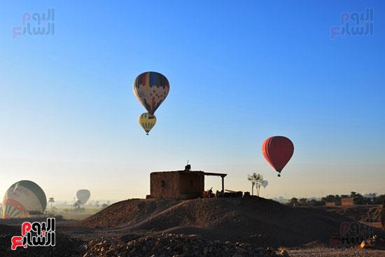 تحليق-10-رحلات-بالون-علي-متنها-210-سائح-من-حول-العالم-في-سماء-مدينة-الأقصر-(2)