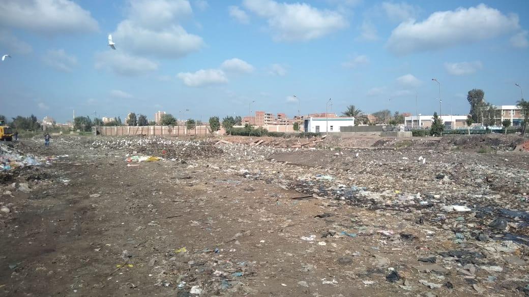 رفع أطنان القمامة بجوار مقلب ديرب نجم بالشرقية  (16)
