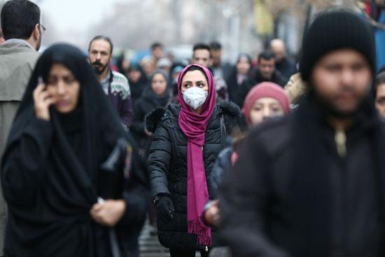 الكمامات فى إيران