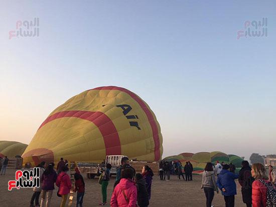 هبوط البالون بعد الرحلة