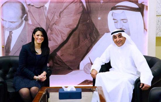 لقاء وزيرة التعاون الدولى ومدير عام الصندوق الكويتي للتنمية الاقتصادية العربية (2)