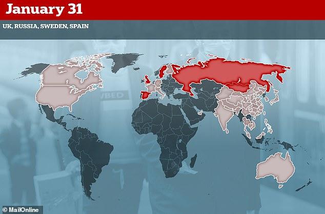 أعلنت المملكة المتحدة أول حالة مؤكدة لها في 31 يناير