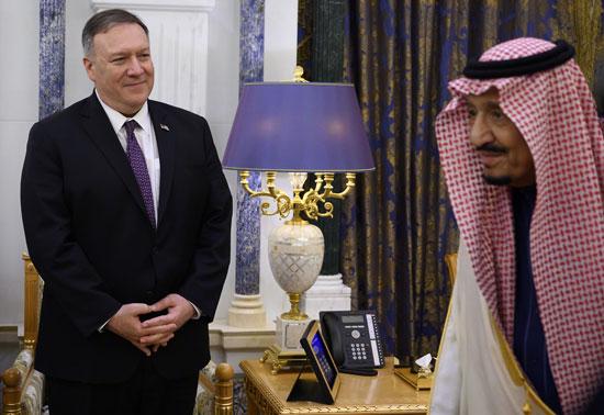 جانب-من-لقاء-الملك-سلمان-ووزير-الخارجية-الأمريكى