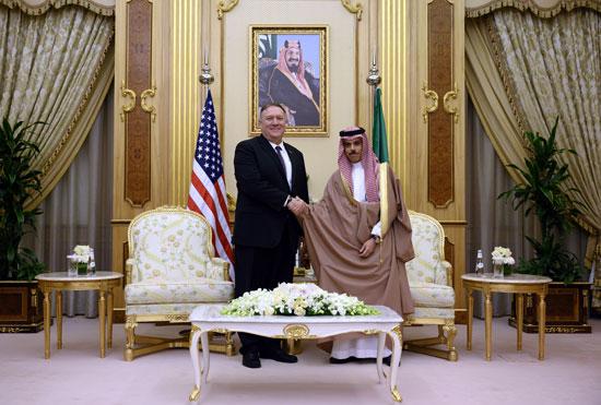 وزير-الخارجية-السعودى-مع-مايك-بومبيو
