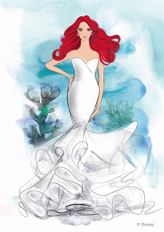 ديزنى تطرح فساتين زفاف مستوحاة من أميراتها