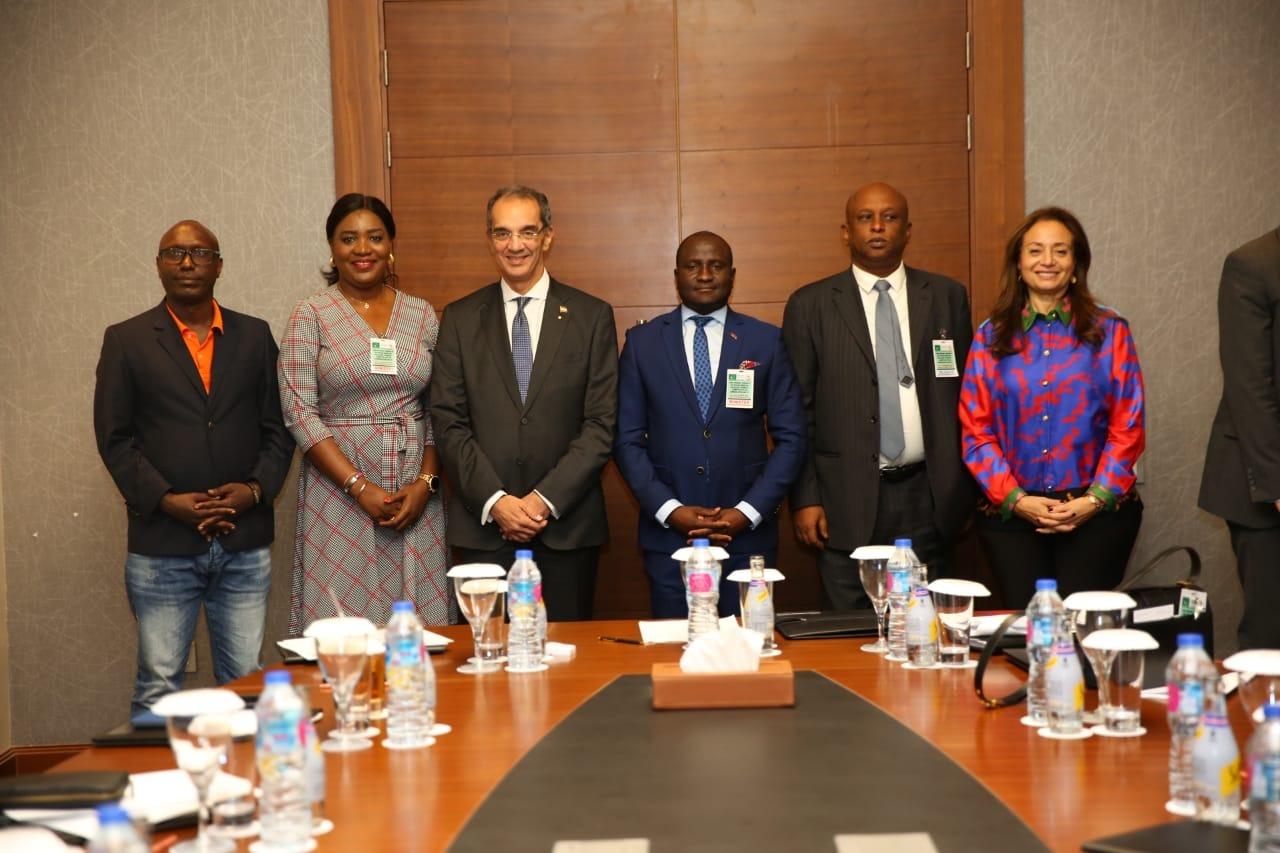 وزير الاتصالات خلال إحدى فعاليات الاتحاد الأفريقى
