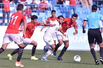 منتخب مصر للشباب يتعادل مع السعودية 22 فى كأس العرب (1)