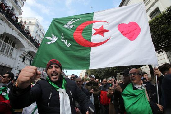 جانب من الاحتجاجات بالجزائر