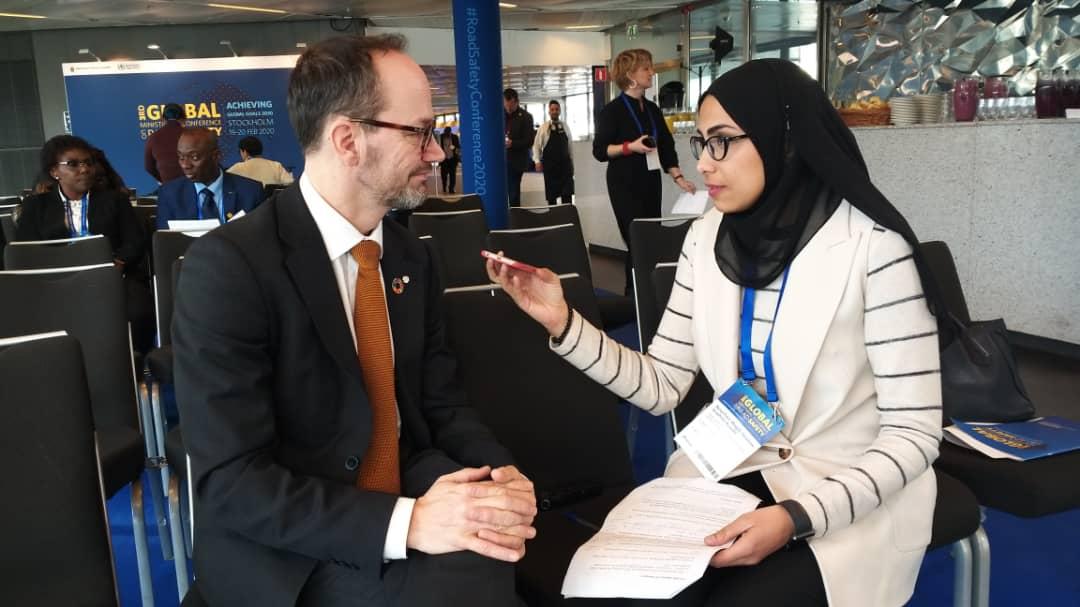 محررة اليوم السابع مع وزير النقل السويدي