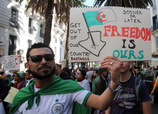 جانب من المظاهرات بالجزائر
